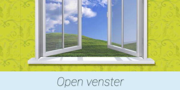 Open venster leercirkel for Agenda lantaren venster